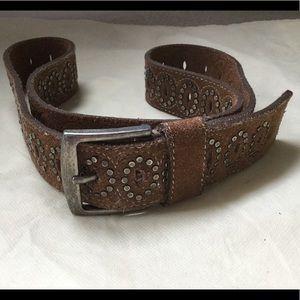 American Eagle brown suede studded belt